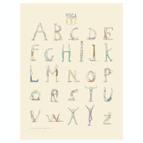 Poster Yoga Alfabet 40 x 30 cm från MAILEG