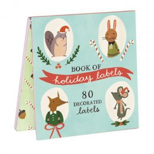 Julklappsetiketter - Holiday Forest Friends - Galison