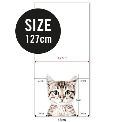 Magnettapet (127 x 265 cm) - KATT - från Groovy magnets