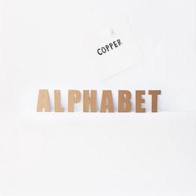 Magnet set Alfabet Koppar - Groovy Magnets