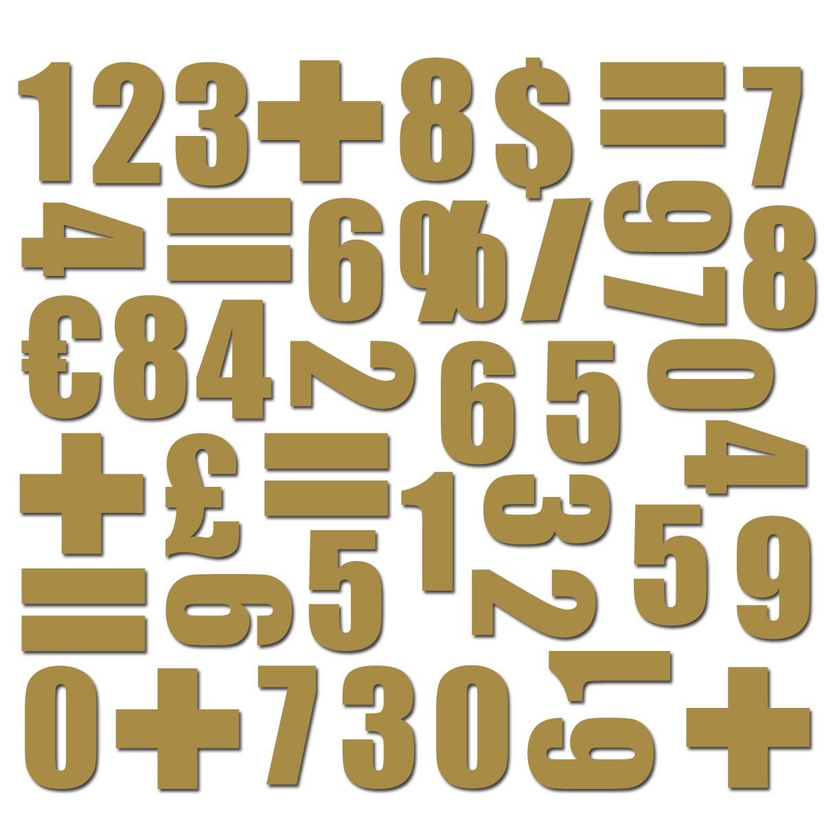 Magnet set Siffror Koppar - Groovy Magnets