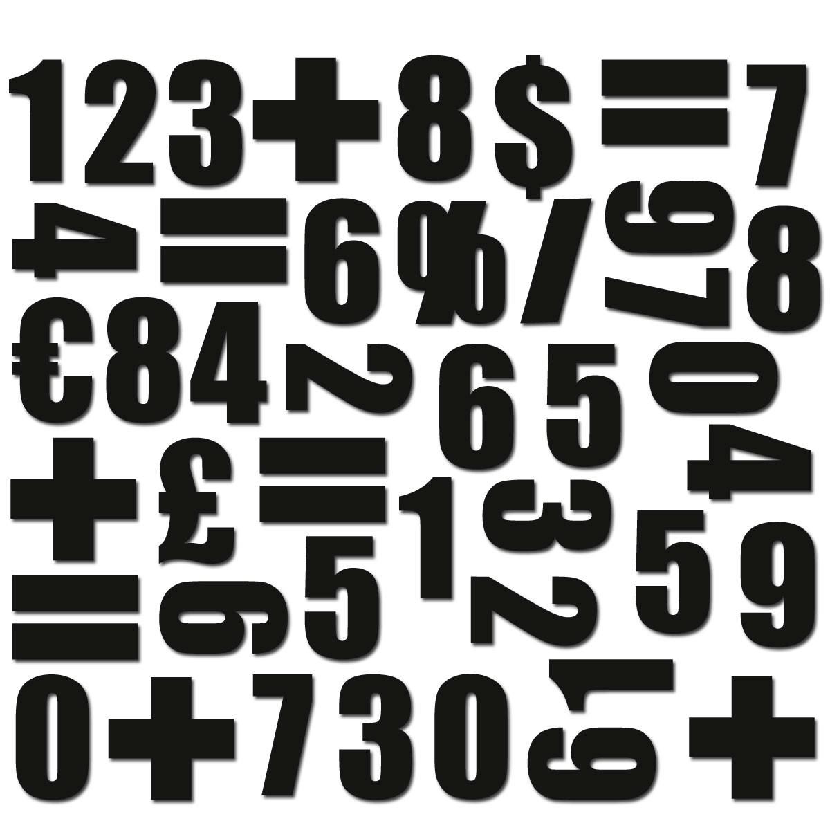 Magnet set Siffror Svart - Groovy Magnets