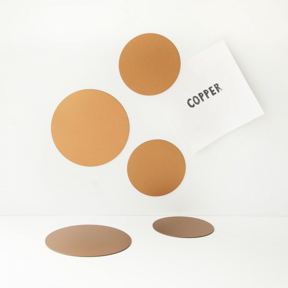 Magnet set Cirklar Koppar - Groovy Magnets