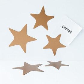 Magnet set Stjärnor Koppar - Groovy Magnets