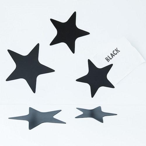 Magnet set Stjärnor Svart - Groovy Magnets