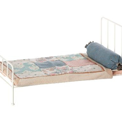 METAL BED MEDIUM, OFFWHITE