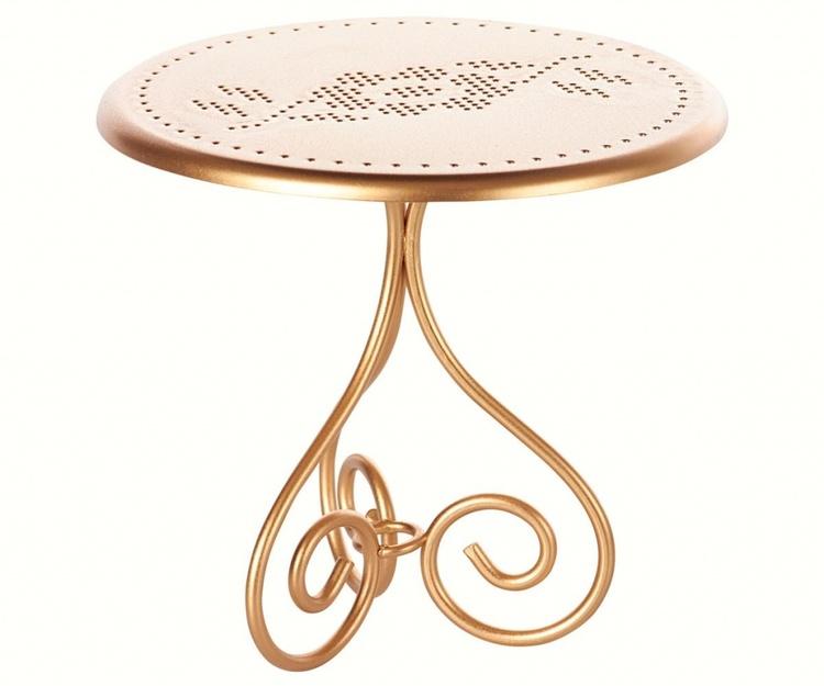 Cafébord, guld