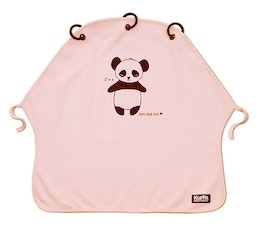 Kurtis Pram Curtain, Sun Shade for Strollers, Panda Rose
