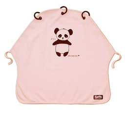 Barnvagnsgardin Kurtis Panda Rosa