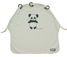 Kurtis Pram Curtain, Sun Shade for Strollers, Panda Grey