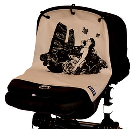 Kurtis Pram Curtain, older version ''Chicago Grey''