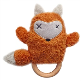 Rattle with teether Fox