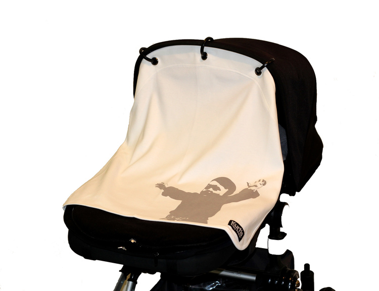 Kurtis Pram Curtain, older version ''Embrace White''