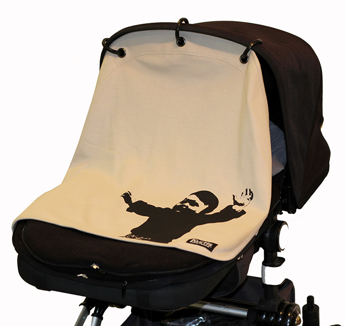 Kurtis Pram Curtain, older version ''Embrace Grey''