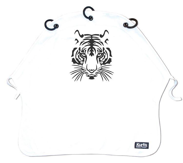 Vaunuverho Kurtis Tiger, Mustavalkoinen