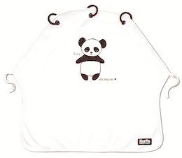 Vaunuverho Kurtis Panda, mustavalkoinen
