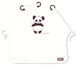 Barnvagnsgardin Kurtis Panda Vit