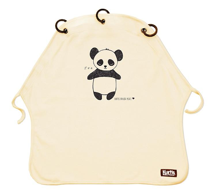 Kinderwagenvorhang Kurtis Panda Sand