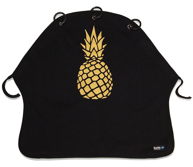 Vaunuverho Kurtis Pineapple, Kulta/Musta