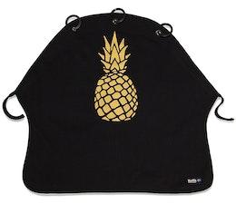 Pram Curtain Kurtis Pineapple Black Gold