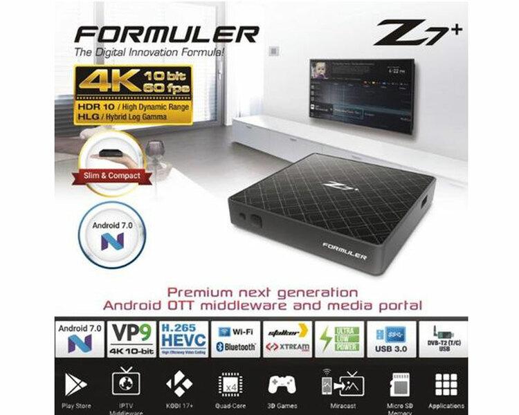 IPTV BOX FORMULER Z7+ IP Tv box WIFI 4K