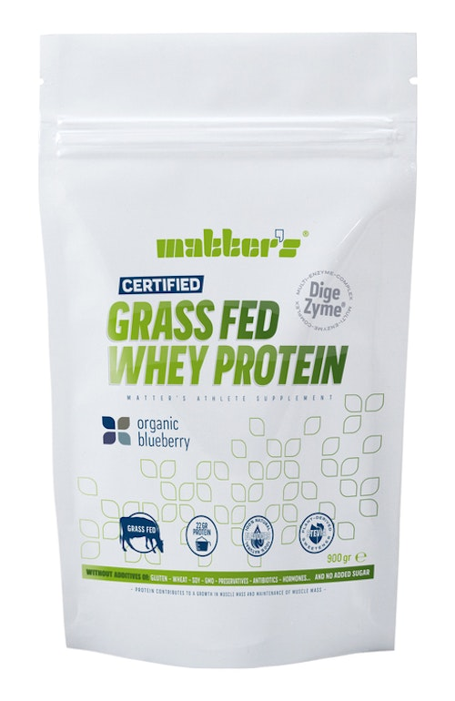 2 ST PÅSAR GRASS-FED WHEY BLUEBERRY 900G