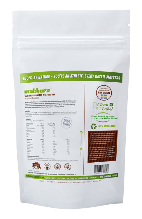 CERTIFIED GRASS-FED WHEY CHOCOLATE 900G