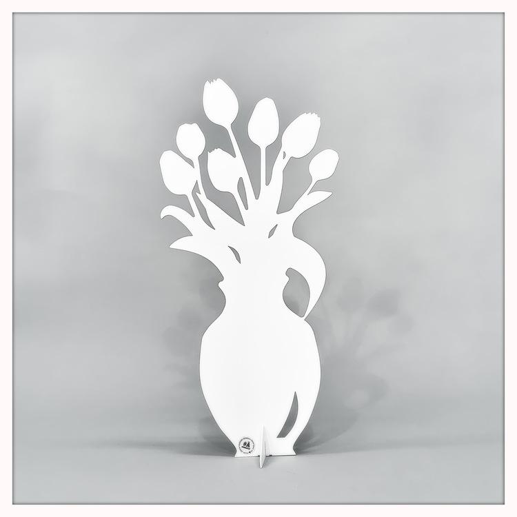 Tulpan 40 cm (svart och vit)