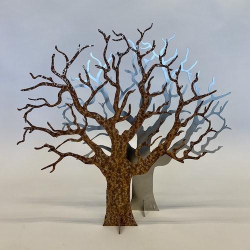 Ödeträd i Corten