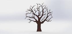 Stort ödeträd i Corten - skickas ej