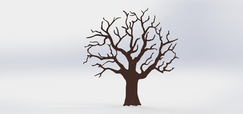 Stort ödeträd i Corten - förbeställning