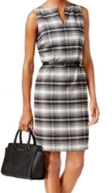 Michael Kors - snygg jobbklänning med tunt svart bälte (storlek M ... 3c2db1087f8ea