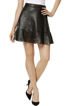 Klockad kjol i faux läder från Michael Kors (M) 9c8c40da424f2