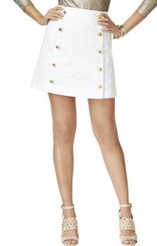 Vit kjol med guldknappar från Michael Kors (M) e9dfb26353ed8
