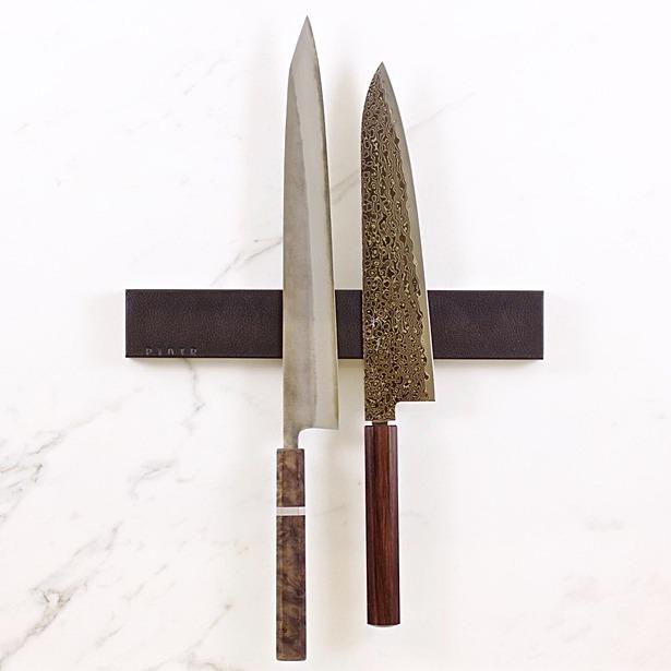 Black Leather Knifeholder