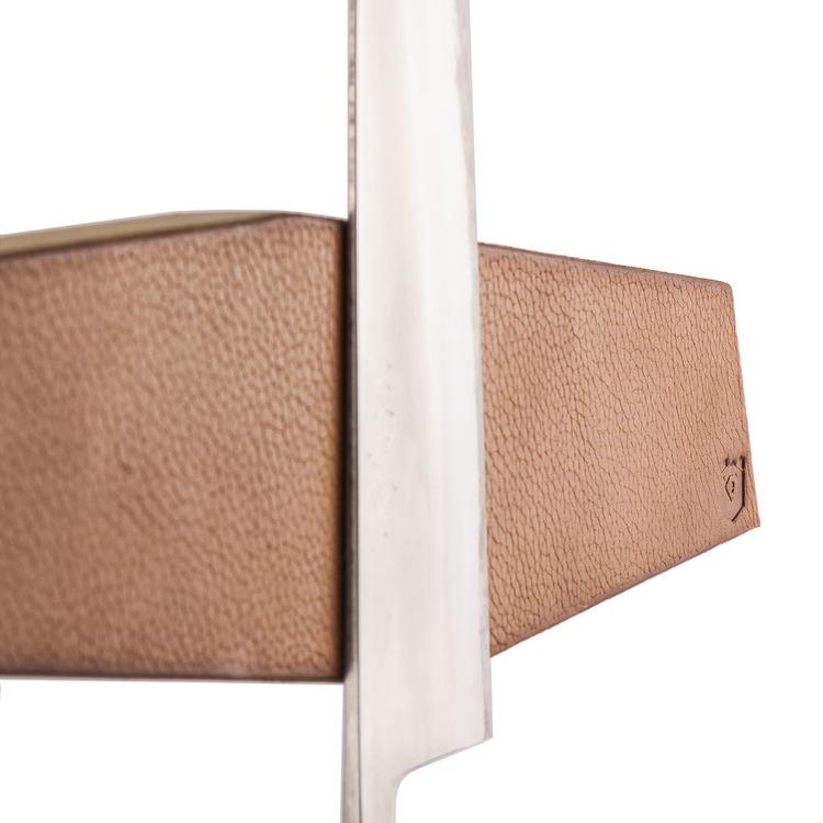Brown Geometric Knife Holder