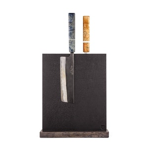 Magnetic Black Leather Block