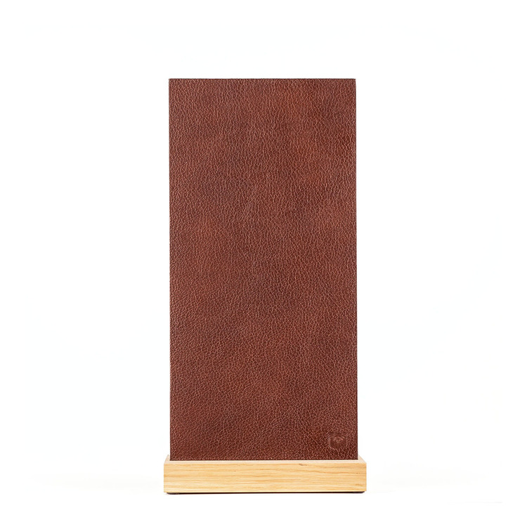 Magnetic Darkbrown Leather Block