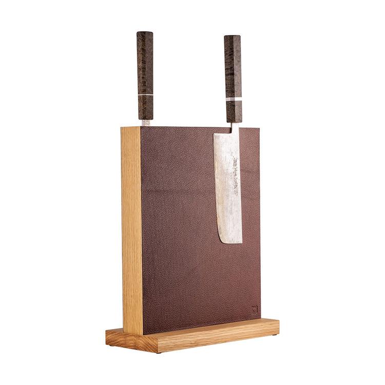 Magnetic Darkbrown Leather Block