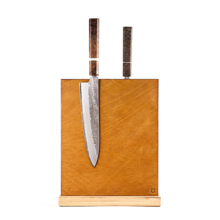 Magnetic Cognac Leather Block