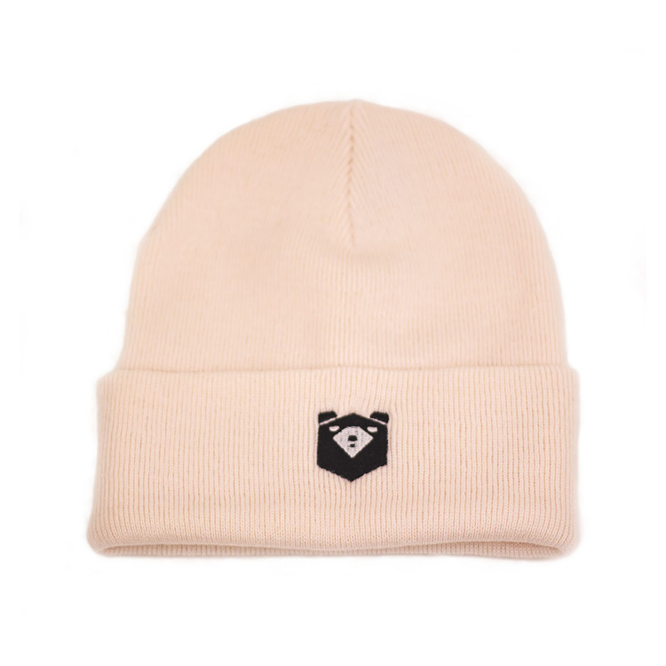 Ribbed beanie pale pink