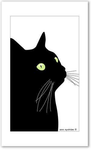 Liten handduk Svarta Katten