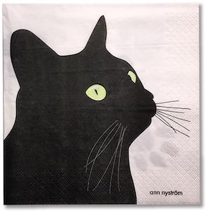 Servett Svarta Katten