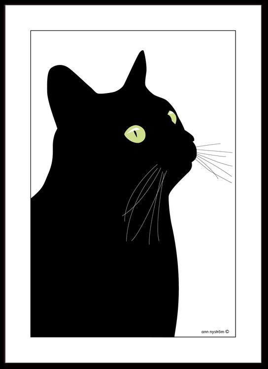 Kökshandduk Svarta Katten NYHET