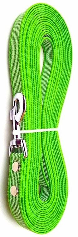 Antiglid koppel/lina 20 mm utan handtag, limegrön/vit