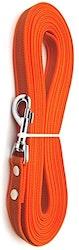 Antiglid koppel/lina 20 mm utan handtag, orange
