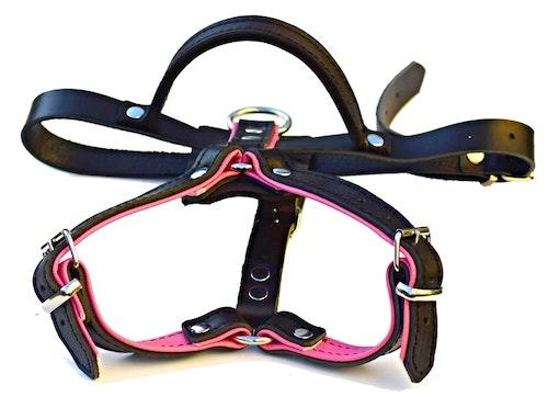 K9-Sport Lädersele, rosa