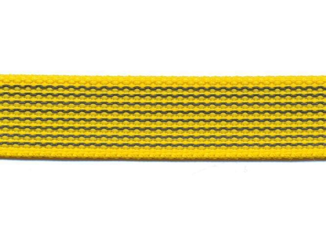 Antiglid koppel/lina 15 mm utan handtag, gul