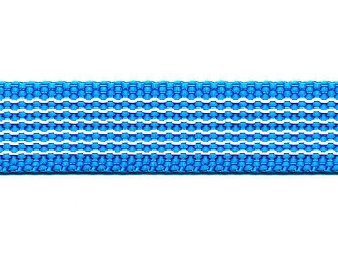 Antiglid koppel/lina 20 mm utan handtag, azurblå/vit