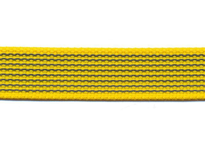 Antiglid koppel/lina 20 mm utan handtag, gul